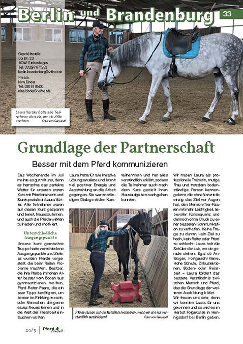 Grundlage der Partnerschaft – Pferd & Freizeit (Ausgabe 03/2020)